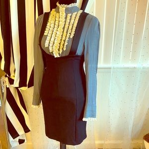 COPY - DVF dress/skirt with suspenders